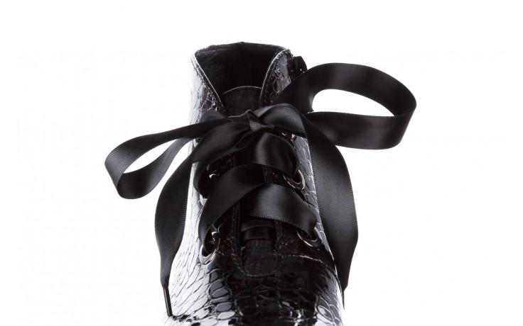 Botki bayla-194 9347 1743 brąz 194003, skóra naturalna lakierowana  - skórzane - botki - buty damskie - kobieta 7