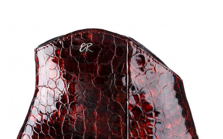 Botki bayla-194 9597 1741 czarny bordo 194002, skóra naturalna lakierowana - skórzane - botki - buty damskie - kobieta 8
