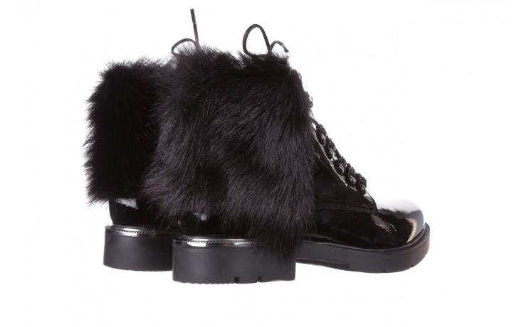 Trzewiki bayla-161 068-9015 black patent, czarny, skóra naturalna lakierowana  - trzewiki - buty damskie - kobieta 4
