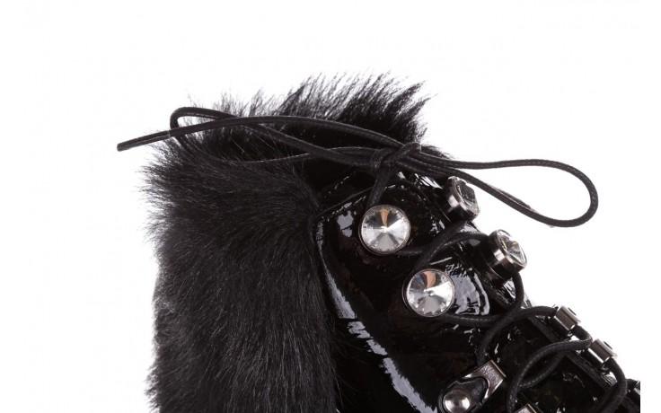 Trzewiki bayla-161 068-9015 black patent, czarny, skóra naturalna lakierowana  - trzewiki - buty damskie - kobieta 7