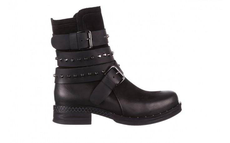 Trzewiki bayla-161 050-2341 black, czarny, skóra naturalna  - trzewiki - buty damskie - kobieta