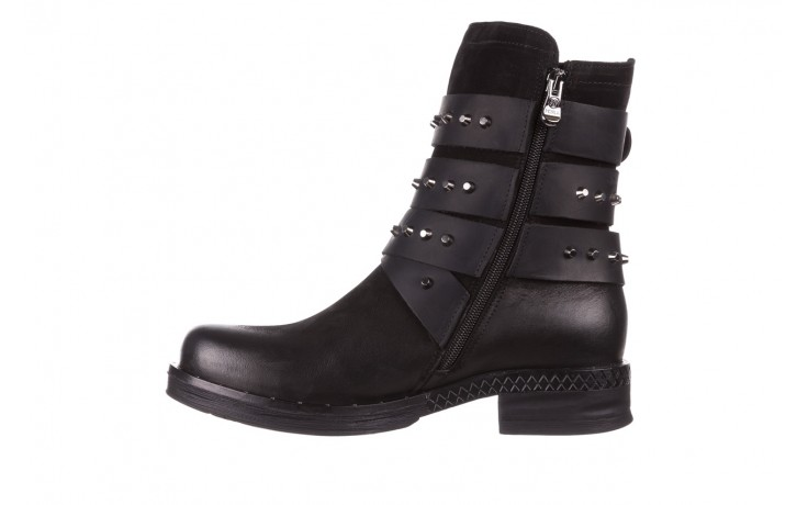 Trzewiki bayla-161 050-2341 black, czarny, skóra naturalna  - trzewiki - buty damskie - kobieta 3