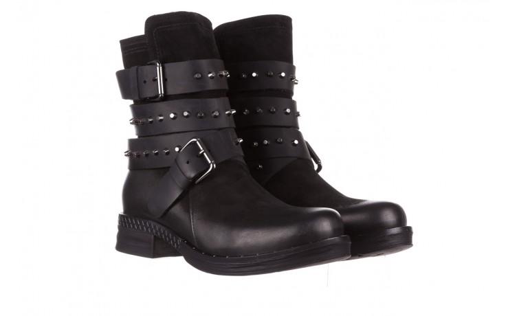 Trzewiki bayla-161 050-2341 black, czarny, skóra naturalna  - trzewiki - buty damskie - kobieta 1