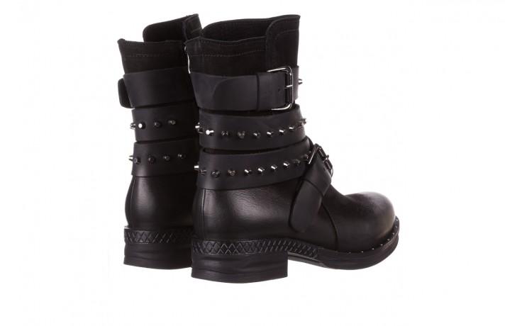 Trzewiki bayla-161 050-2341 black, czarny, skóra naturalna  - trzewiki - buty damskie - kobieta 4