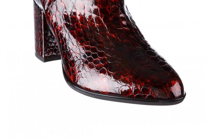 Botki bayla-194 9597 1741 czarny bordo 194002, skóra naturalna lakierowana - skórzane - botki - buty damskie - kobieta 9