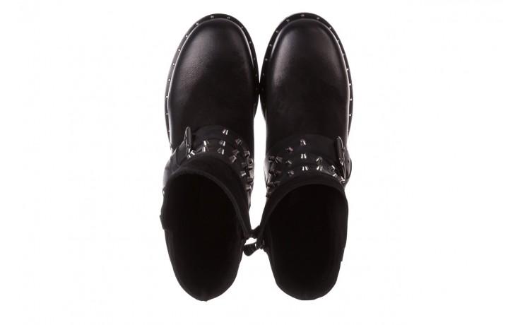 Trzewiki bayla-161 050-2341 black, czarny, skóra naturalna  - trzewiki - buty damskie - kobieta 5