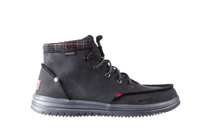 Trzewiki heydude bradley black 003191, czarny, skóra naturalna  - buty męskie - mężczyzna