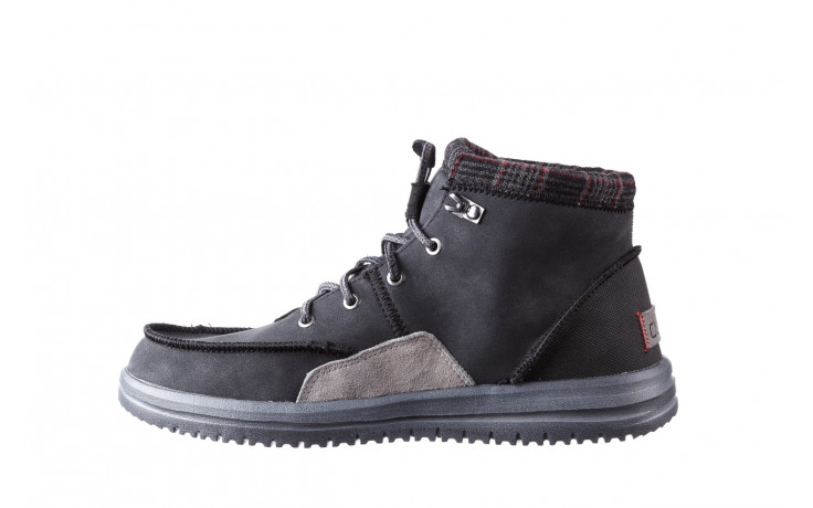 Trzewiki heydude bradley black 003191, czarny, skóra naturalna  - buty męskie - mężczyzna 2