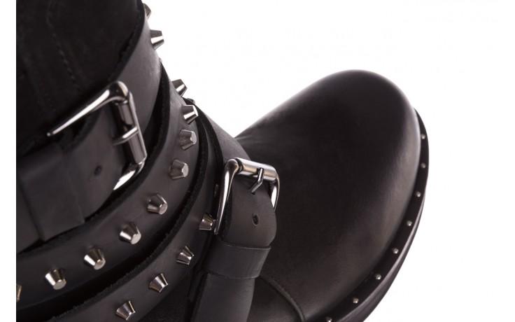 Trzewiki bayla-161 050-2341 black, czarny, skóra naturalna  - trzewiki - buty damskie - kobieta 8