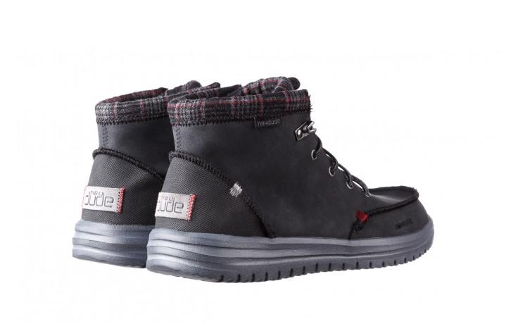 Trzewiki heydude bradley black 003191, czarny, skóra naturalna  - buty męskie - mężczyzna 3