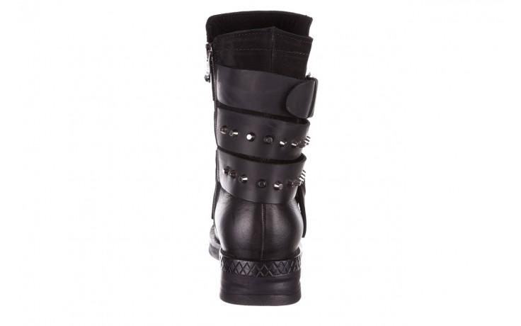 Trzewiki bayla-161 050-2341 black, czarny, skóra naturalna  - trzewiki - buty damskie - kobieta 10