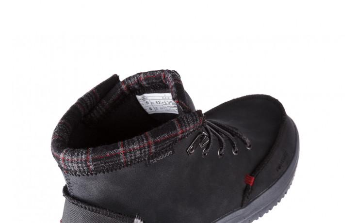 Trzewiki heydude bradley black 003191, czarny, skóra naturalna  - buty męskie - mężczyzna 6