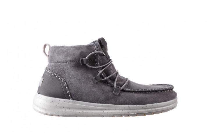 Śniegowce heydude eloise suede dark grey 003195, szary, skóra naturalna  - heydude - nasze marki