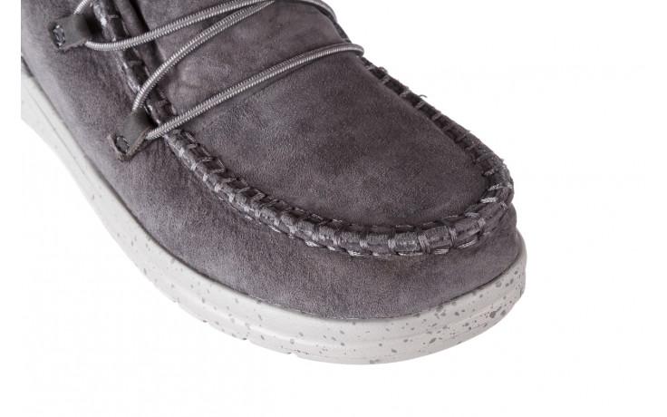 Śniegowce heydude eloise suede dark grey 003195, szary, skóra naturalna  - heydude - nasze marki 5