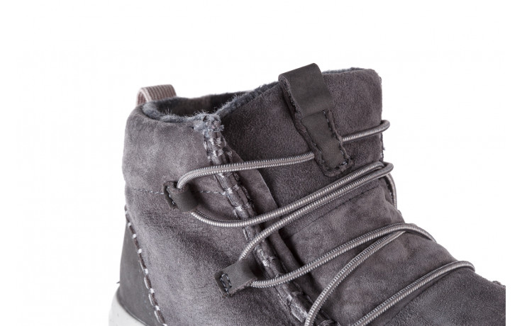 Śniegowce heydude eloise suede dark grey 003195, szary, skóra naturalna  - heydude - nasze marki 7