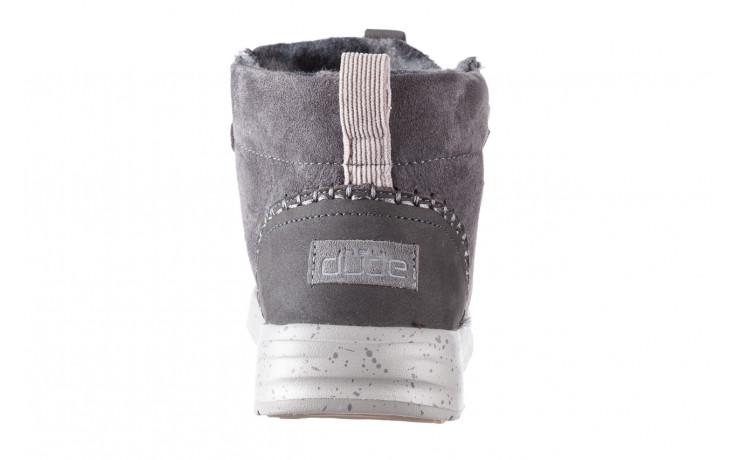 Śniegowce heydude eloise suede dark grey 003195, szary, skóra naturalna  - heydude - nasze marki 6