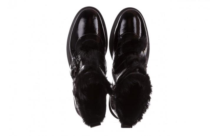 Trzewiki bayla-161 050-7863 black, czarny, skóra naturalna lakierowana  - trzewiki - buty damskie - kobieta 5