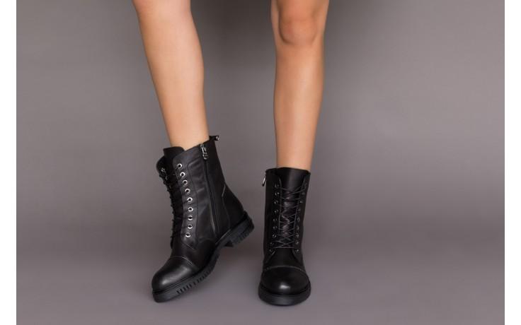 Trzewiki bayla-161 050-3055 black, czarny, skóra naturalna  - trzewiki - buty damskie - kobieta 2