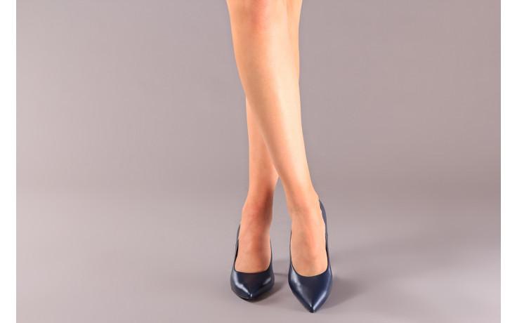 Czółenka bayla-056 9117-766 granat 056517, skóra naturalna  - skórzane - czółenka - buty damskie - kobieta 2