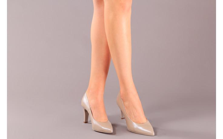 Czółenka bayla-056 7060-1461 beż perła 056516, skóra naturalna  - na słupku - czółenka - buty damskie - kobieta 2