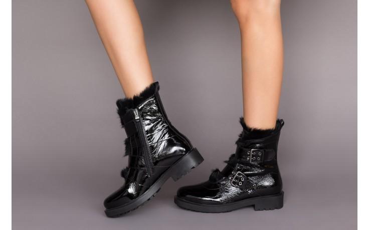 Trzewiki bayla-161 050-7863 black, czarny, skóra naturalna lakierowana  - trzewiki - buty damskie - kobieta 2