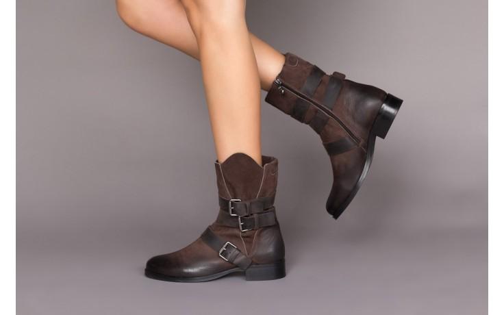 Botki bayla-161 050-09435 brown, brąz, skóra naturalna  - skórzane - botki - buty damskie - kobieta 2
