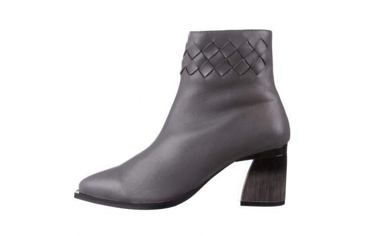 Botki bayla-195 20k-6811 grey 195006, szary, skóra naturalna  - skórzane - botki - buty damskie - kobieta 3