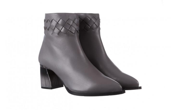Botki bayla-195 20k-6811 grey 195006, szary, skóra naturalna  - skórzane - botki - buty damskie - kobieta 1