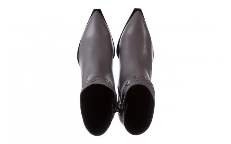 Botki bayla-195 20k-6811 grey 195006, szary, skóra naturalna  - skórzane - botki - buty damskie - kobieta 5