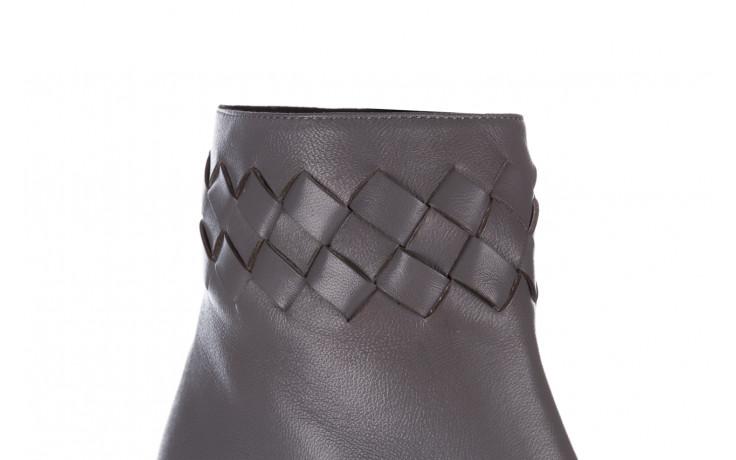 Botki bayla-195 20k-6811 grey 195006, szary, skóra naturalna  - skórzane - botki - buty damskie - kobieta 6