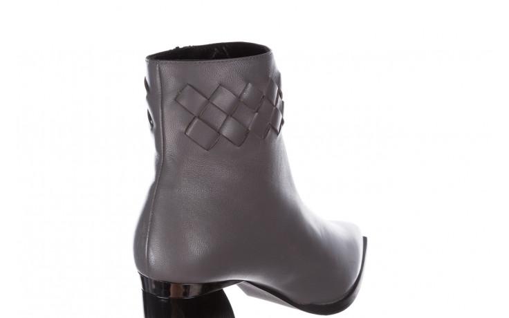 Botki bayla-195 20k-6811 grey 195006, szary, skóra naturalna  - skórzane - botki - buty damskie - kobieta 7