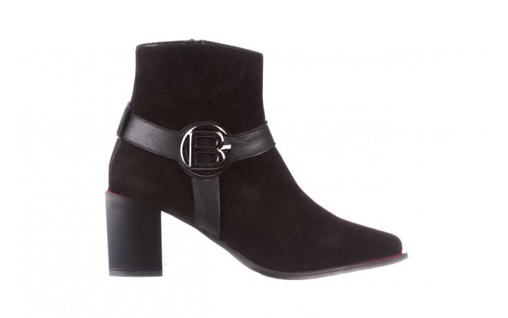 Botki bayla-195 20k-7202-1 black suede 195013, czarny, skóra naturalna  - skórzane - botki - buty damskie - kobieta