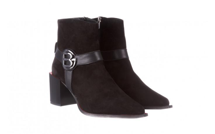 Botki bayla-195 20k-7202-1 black suede 195013, czarny, skóra naturalna  - skórzane - botki - buty damskie - kobieta 1