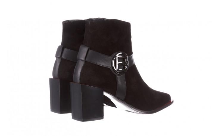 Botki bayla-195 20k-7202-1 black suede 195013, czarny, skóra naturalna  - skórzane - botki - buty damskie - kobieta 4