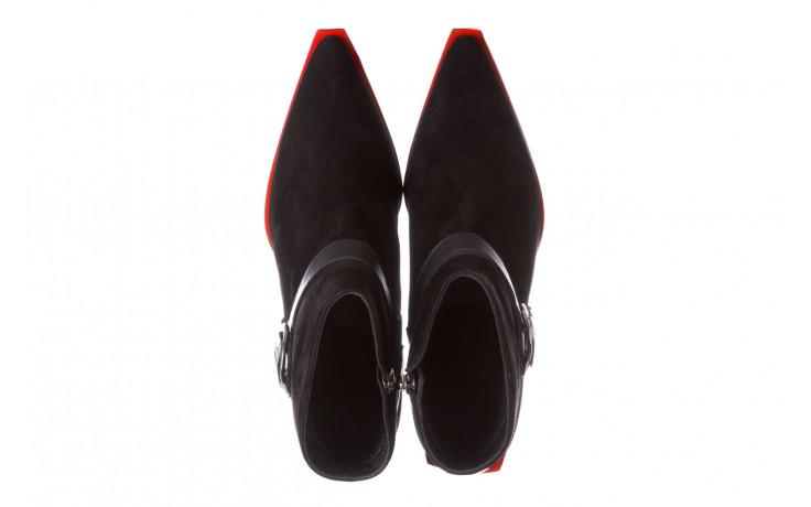 Botki bayla-195 20k-7202-1 black suede 195013, czarny, skóra naturalna  - skórzane - botki - buty damskie - kobieta 5
