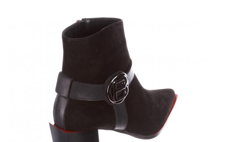 Botki bayla-195 20k-7202-1 black suede 195013, czarny, skóra naturalna  - skórzane - botki - buty damskie - kobieta 6