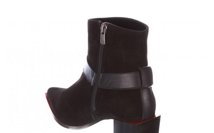 Botki bayla-195 20k-7202-1 black suede 195013, czarny, skóra naturalna  - skórzane - botki - buty damskie - kobieta 7