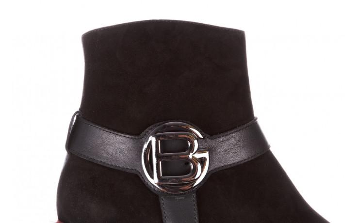 Botki bayla-195 20k-7202-1 black suede 195013, czarny, skóra naturalna  - skórzane - botki - buty damskie - kobieta 10