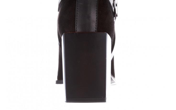 Botki bayla-195 20k-7202-1 black suede 195013, czarny, skóra naturalna  - skórzane - botki - buty damskie - kobieta 8