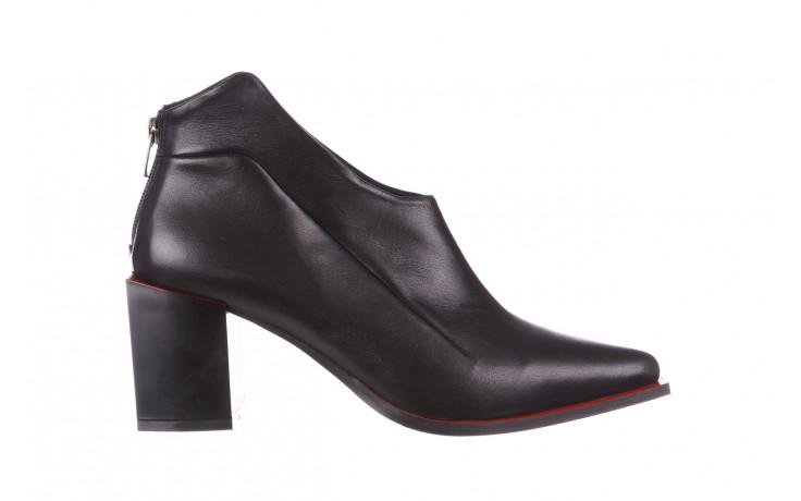Botki bayla-195 20k-7204 black 195022, czarny, skóra naturalna  - skórzane - botki - buty damskie - kobieta