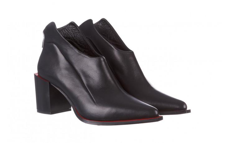 Botki bayla-195 20k-7204 black 195022, czarny, skóra naturalna  - skórzane - botki - buty damskie - kobieta 1