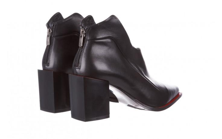 Botki bayla-195 20k-7204 black 195022, czarny, skóra naturalna  - skórzane - botki - buty damskie - kobieta 4