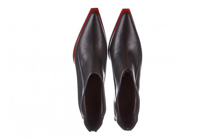Botki bayla-195 20k-7204 black 195022, czarny, skóra naturalna  - skórzane - botki - buty damskie - kobieta 5