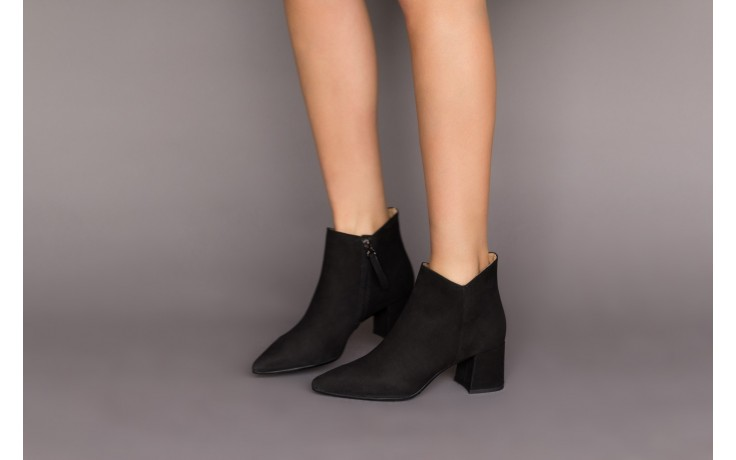 Botki bayla-188 007 czarny 188023, skóra naturalna  - skórzane - botki - buty damskie - kobieta 2