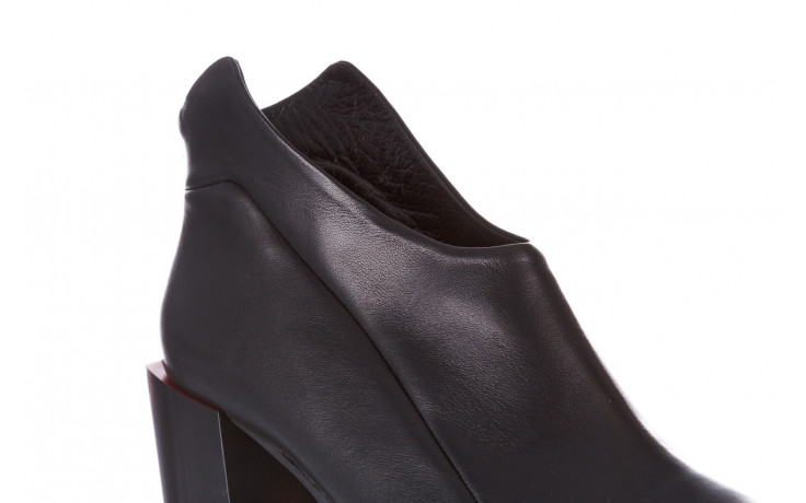 Botki bayla-195 20k-7204 black 195022, czarny, skóra naturalna  - skórzane - botki - buty damskie - kobieta 6