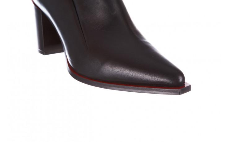 Botki bayla-195 20k-7204 black 195022, czarny, skóra naturalna  - skórzane - botki - buty damskie - kobieta 9