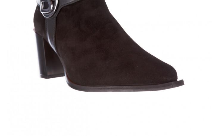 Botki bayla-195 20k-7202-1 black suede 195013, czarny, skóra naturalna  - skórzane - botki - buty damskie - kobieta 9