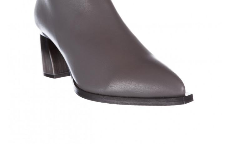 Botki bayla-195 20k-6811 grey 195006, szary, skóra naturalna  - skórzane - botki - buty damskie - kobieta 9