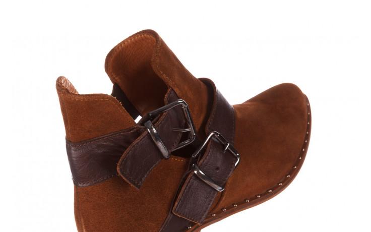 Botki bayla-195 19k-802 vizon brown 195020, brąz, skóra naturalna  - zamszowe - botki - buty damskie - kobieta 6