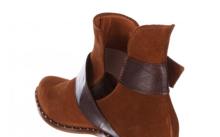 Botki bayla-195 19k-802 vizon brown 195020, brąz, skóra naturalna  - zamszowe - botki - buty damskie - kobieta 7